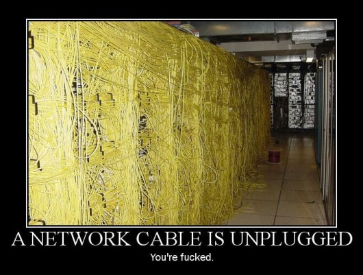 cable unplugged - your fucked