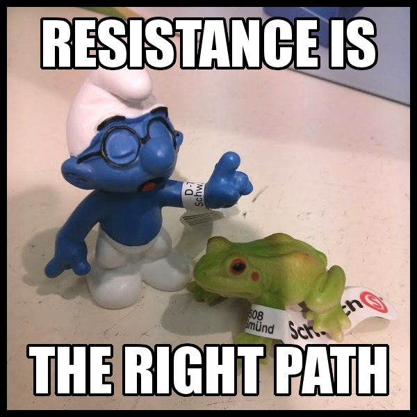 Resistance is the right path