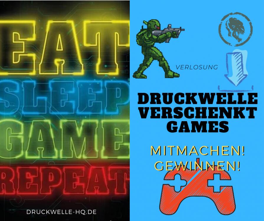 DRUCKWELLE verschenkt Games!