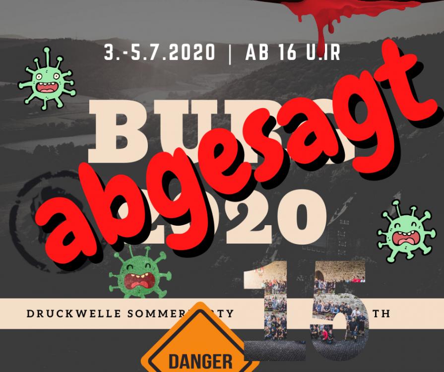 DRUCKWELLE Burg Hessenstein Juli 2020 abgesagt